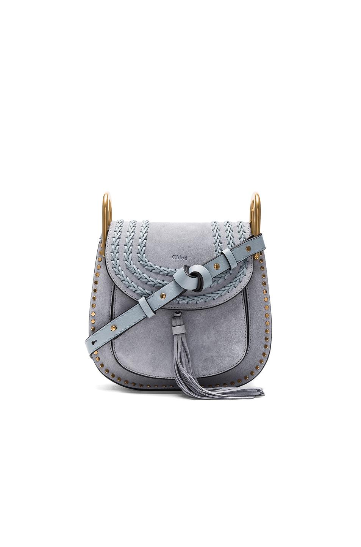da24c3cd28 Image 1 of Chloe Small Suede Hudson Shoulder Bag in Fresh Blue