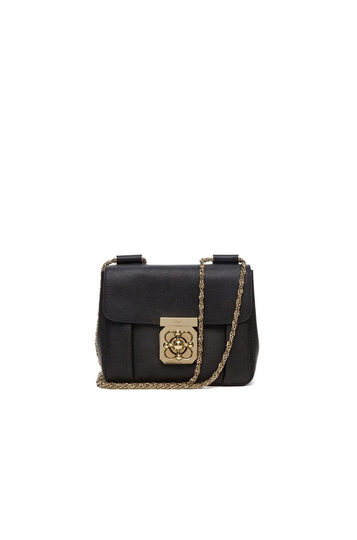 Image 1 of Chloe Small Elsie Shoulder Bag in Black