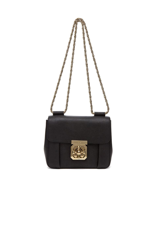 Image 6 of Chloe Small Elsie Shoulder Bag in Black