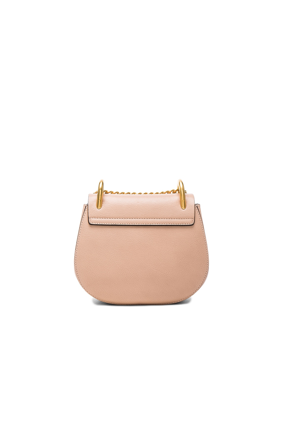 chloe drew coin purse. image 2 of chloe mini leather drew shoulder bag in biscotti beige coin purse