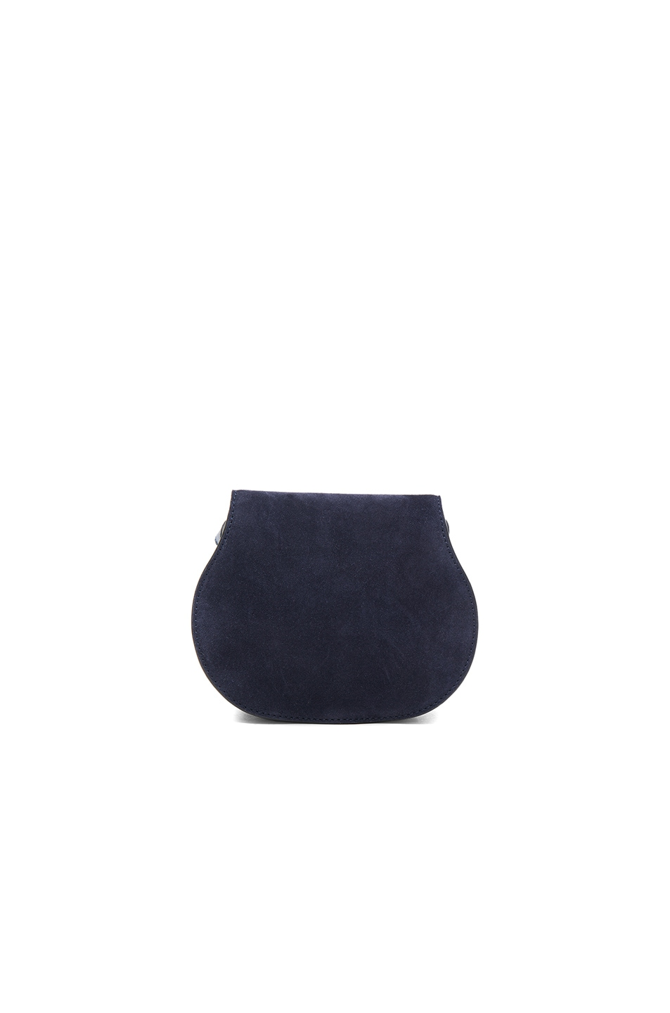 Image 2 of Chloe Small Marcie Suede & Leather Satchel in Navy