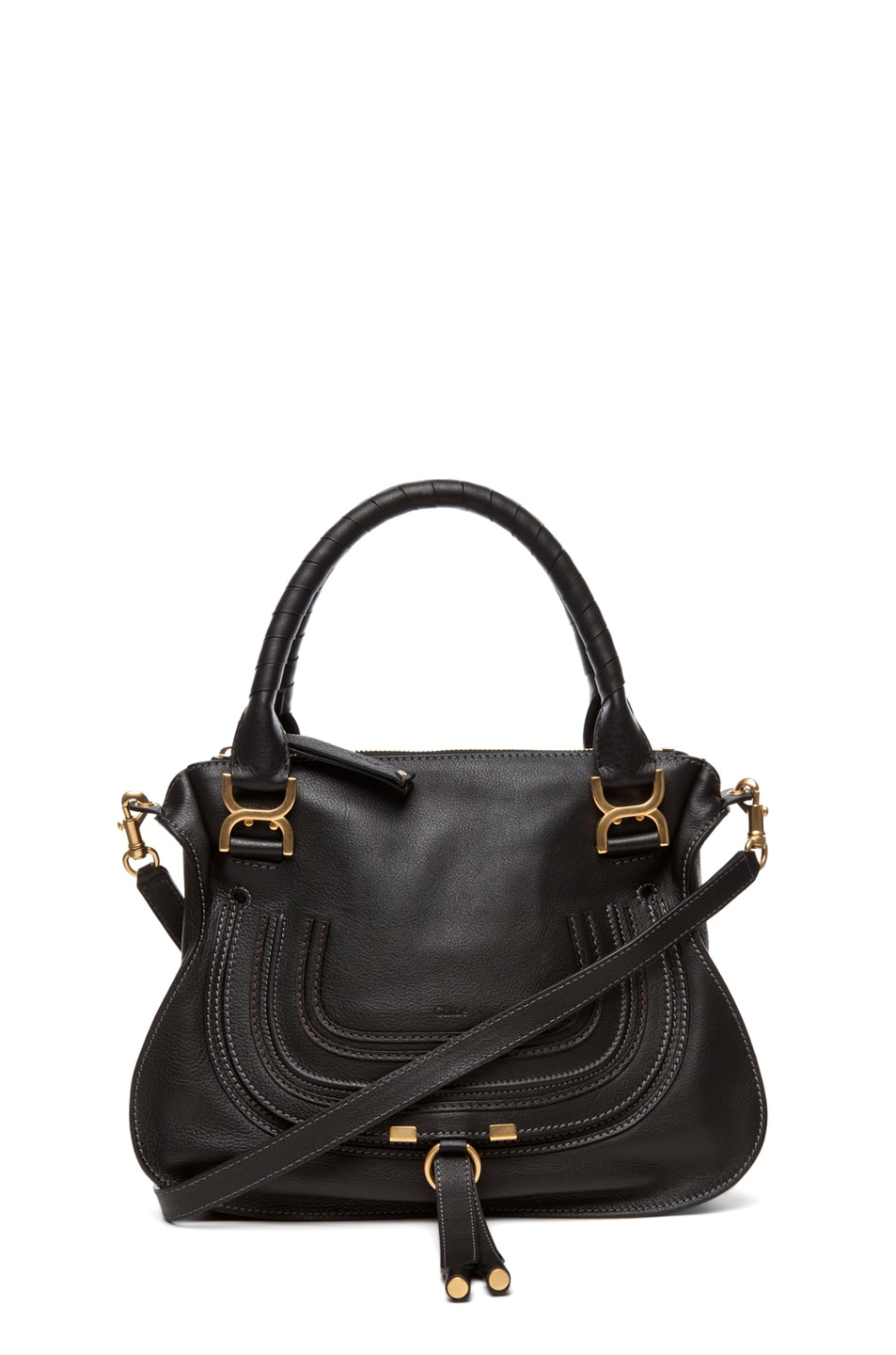 Image 1 of Chloe Marcie Satchel Small in Black