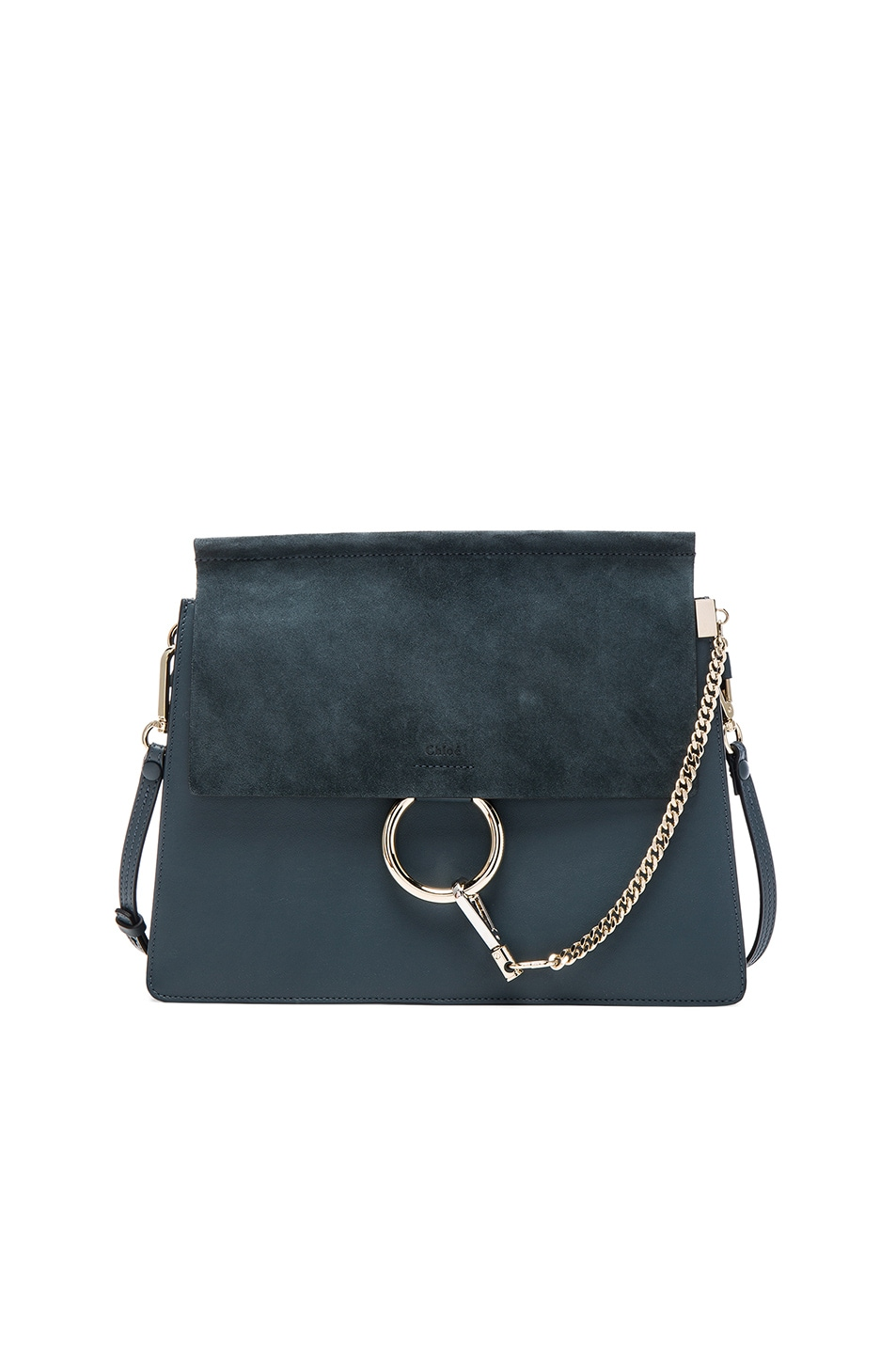 Image 1 of Chloe Medium Faye Bag in Silver Blue