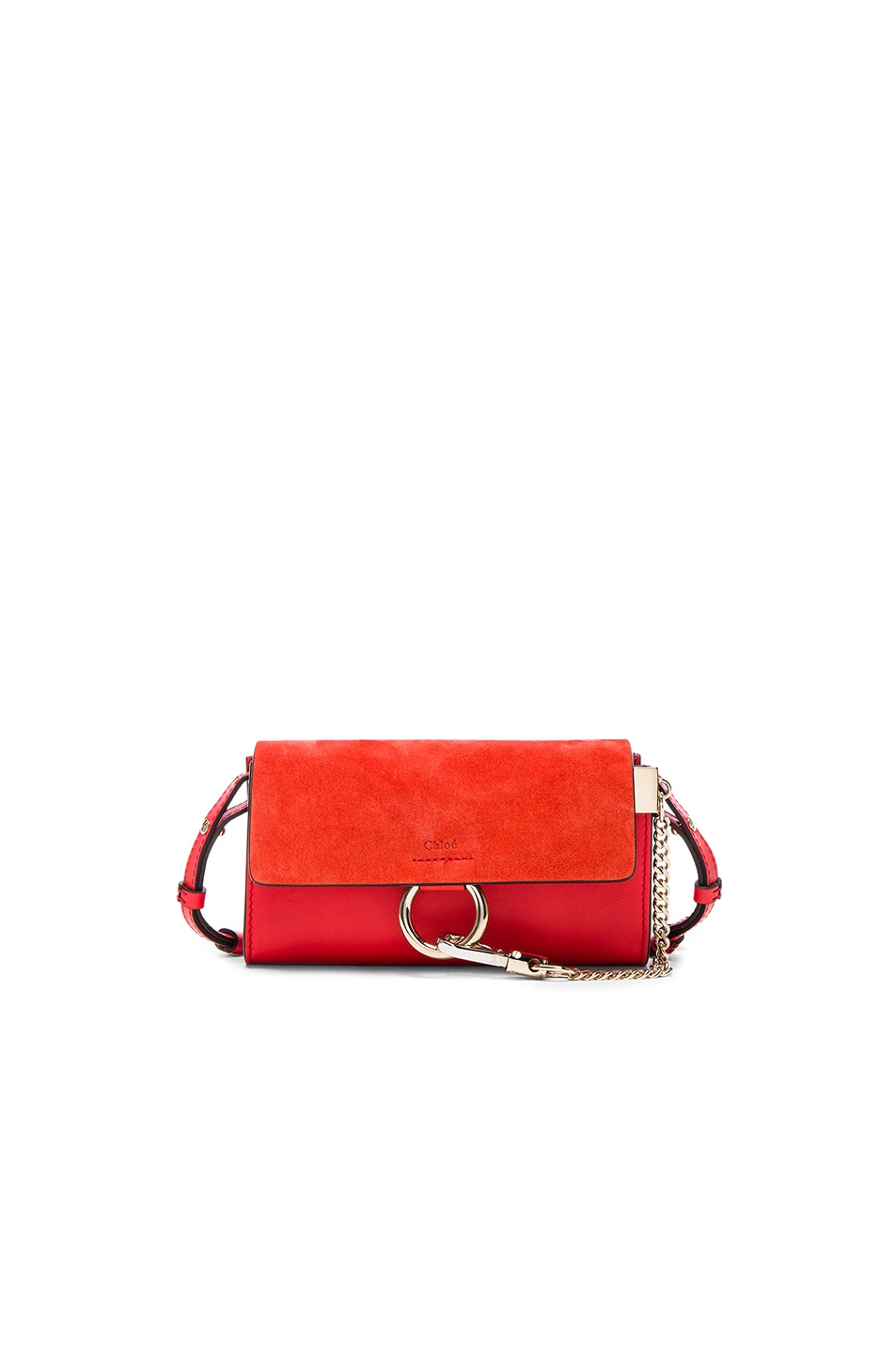 Image 1 of Chloe Faye Strap Wallet in Poppy Red