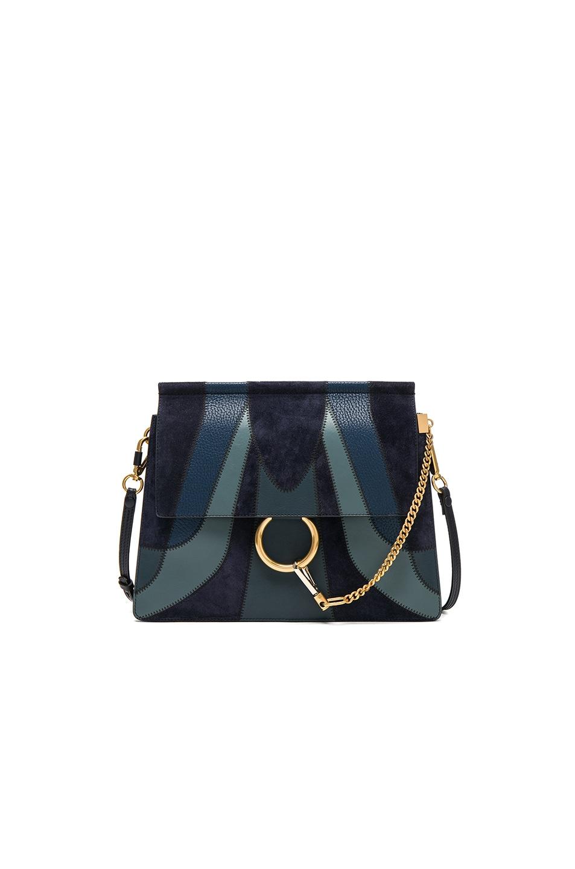 Image 1 of Chloe Medium Faye Bag in Full Blue