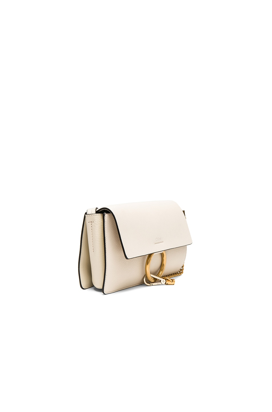 Image 3 of Chloe Small Leather Faye Bag in Off White