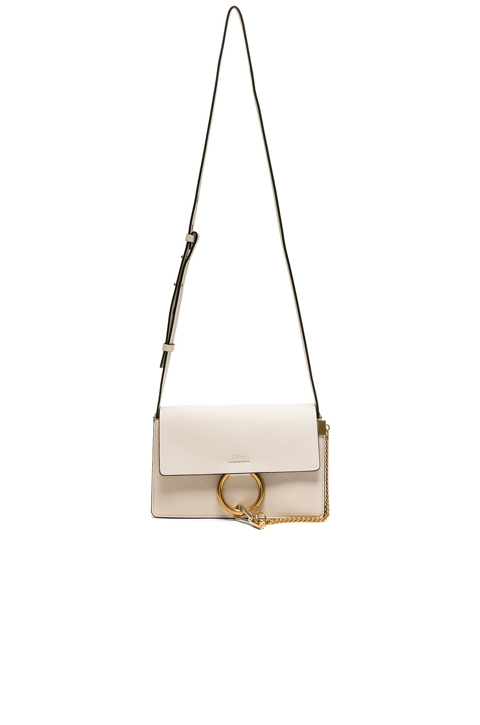 Image 5 of Chloe Small Leather Faye Bag in Off White