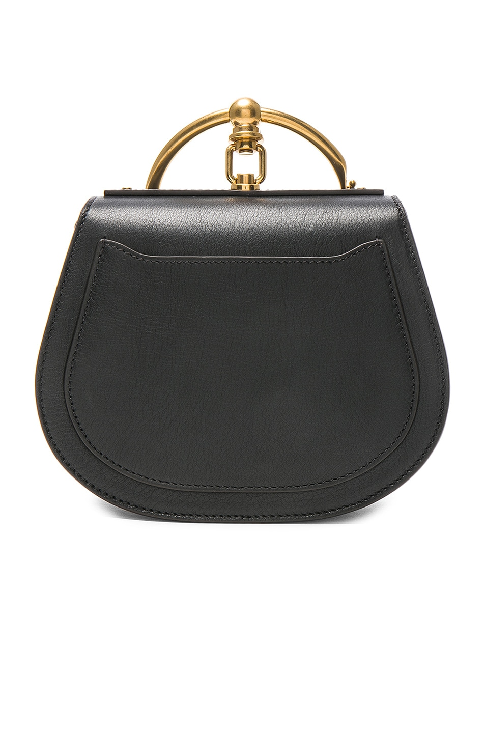 Image 3 of Chloe Small Nile Calfskin & Suede Bracelet Bag in Black