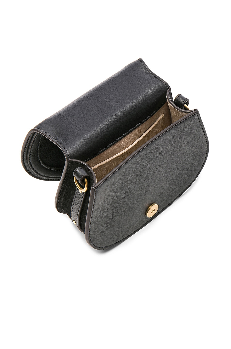 Image 5 of Chloe Small Nile Calfskin & Suede Bracelet Bag in Black