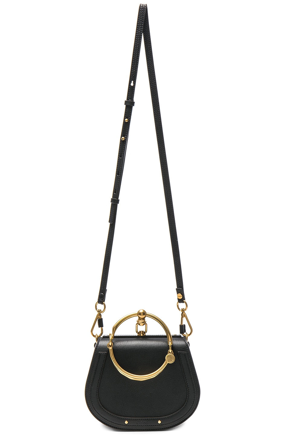Image 6 of Chloe Small Nile Calfskin & Suede Bracelet Bag in Black
