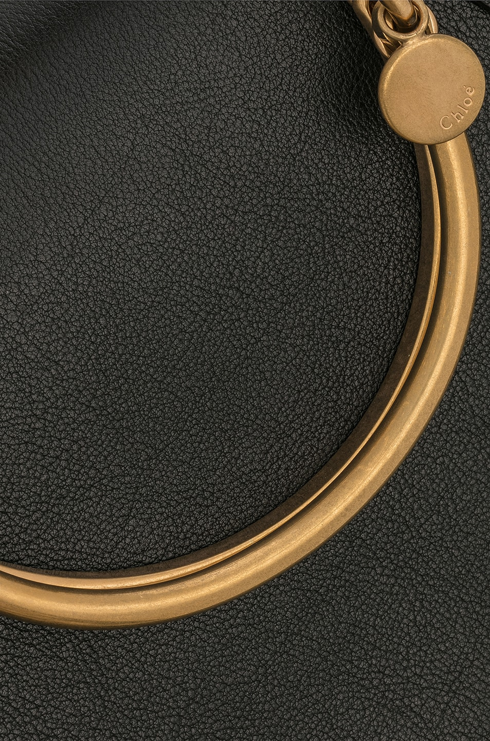 Image 8 of Chloe Small Nile Calfskin & Suede Bracelet Bag in Black