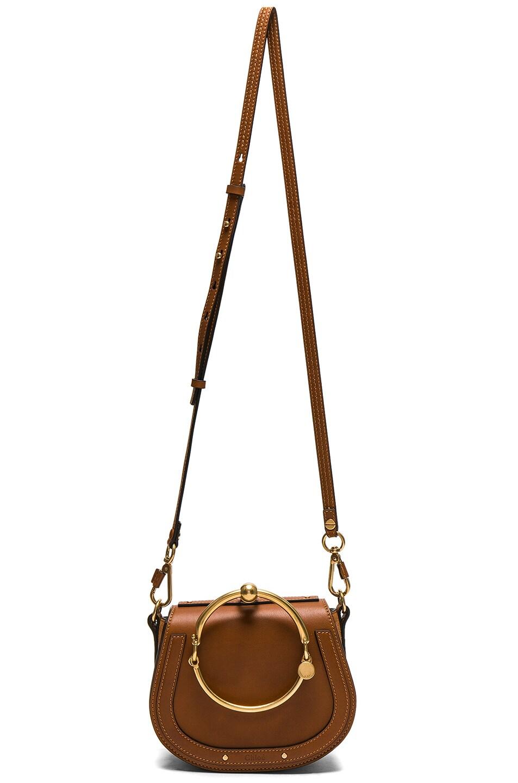 Image 6 of Chloe Small Nile Calfskin & Suede Bracelet Bag in Caramel