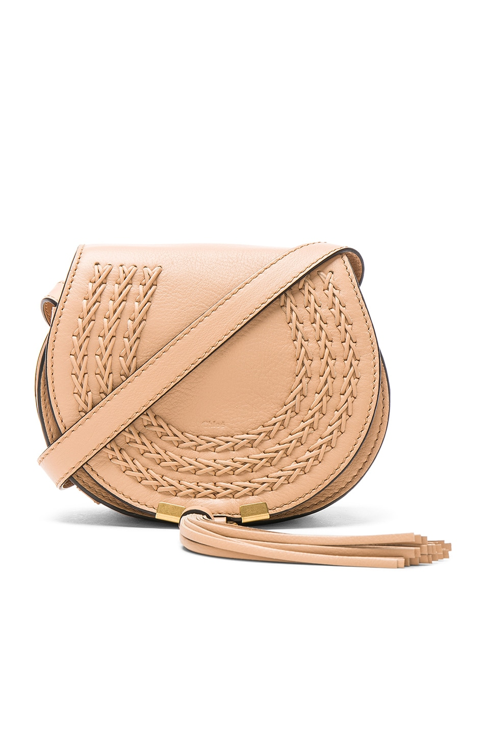 Image 1 of Chloe Small Braid Marcie Satchel in Blush Nude