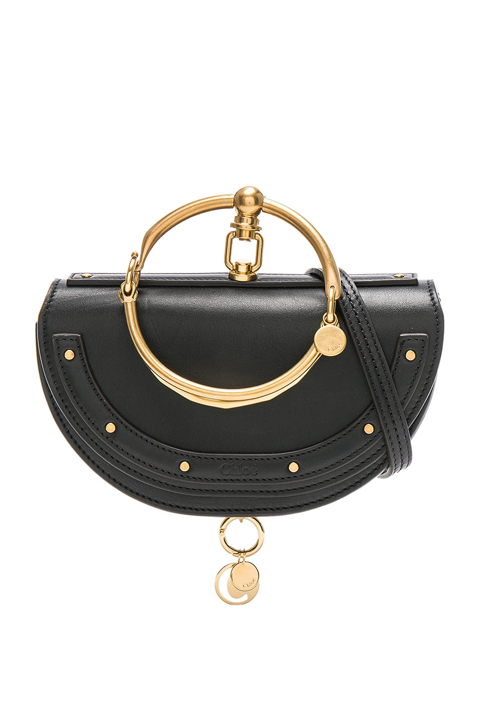 Image 1 of Chloe Small Nile Leather Minaudiere in Black