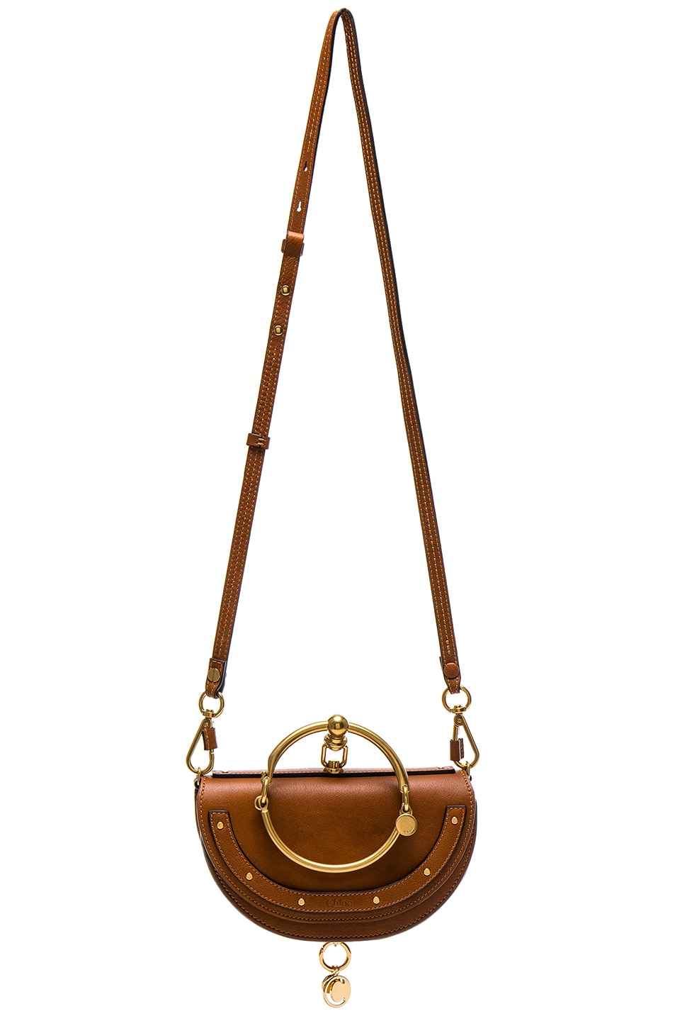 Image 6 of Chloe Small Nile Leather Minaudiere in Caramel