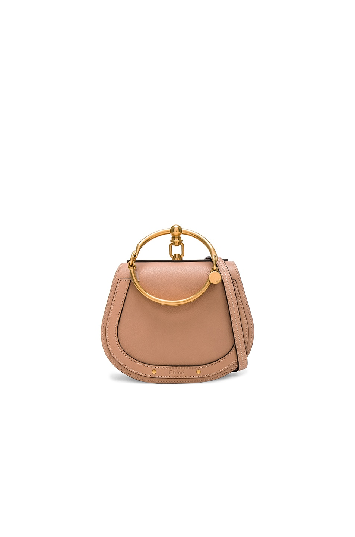 b39d026e59 Chloe Small Nile Calfskin & Suede Bracelet Bag in Biscotti Beige ...