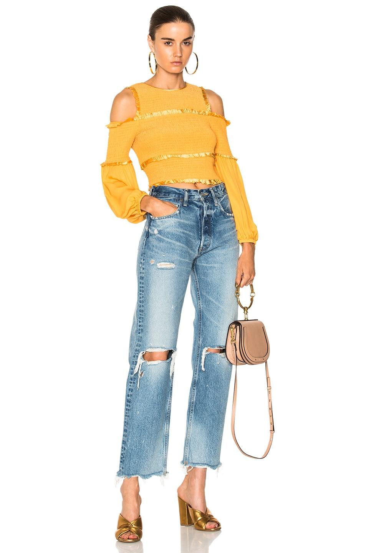 b2fb57ad9d Chloe Small Nile Calfskin & Suede Bracelet Bag in Biscotti Beige | FWRD