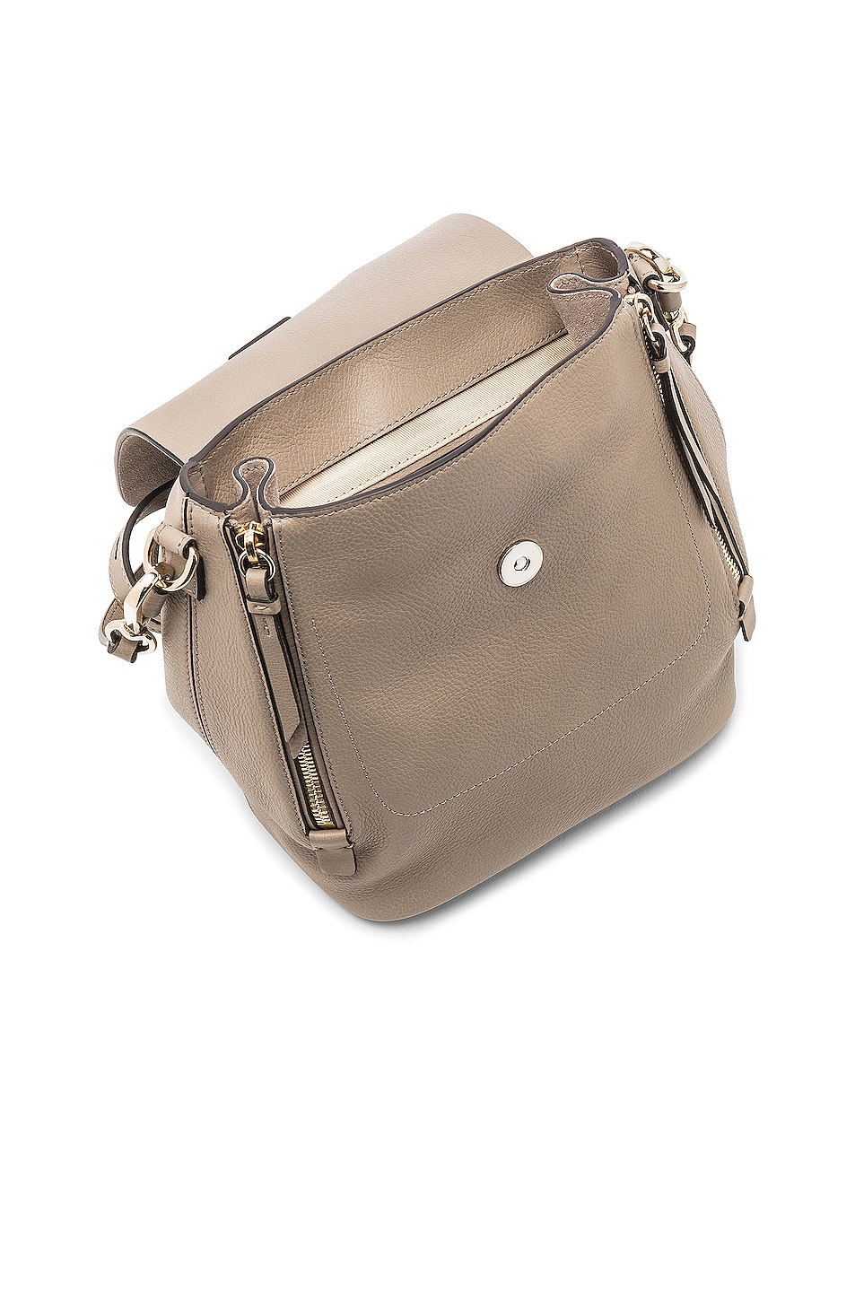 Image 5 of Chloe Small Faye Backpack Suede & Calfskin in Motty Grey