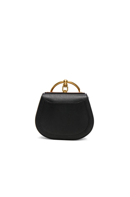 Image 2 of Chloe Small Nile Suede & Calfskin All Over Flower Bracelet Bag in Black
