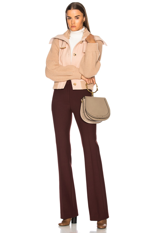 Image 2 of Chloe Medium Nile Suede & Calfskin Bracelet Bag in Motty Grey