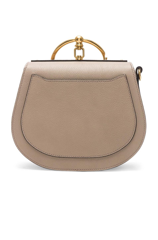 Image 3 of Chloe Medium Nile Suede & Calfskin Bracelet Bag in Motty Grey
