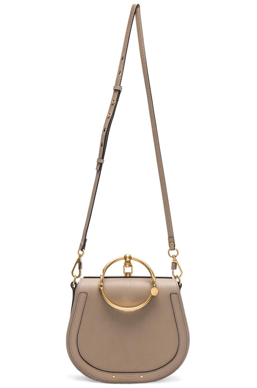 Image 6 of Chloe Medium Nile Suede & Calfskin Bracelet Bag in Motty Grey