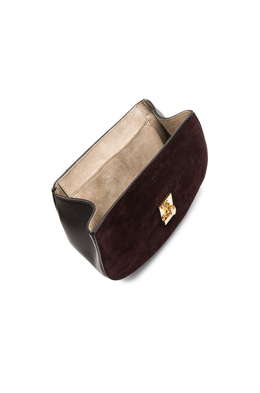 Image 5 of Chloe Small Drew Suede & Calfskin Shoulder Bag in Carbon Brown