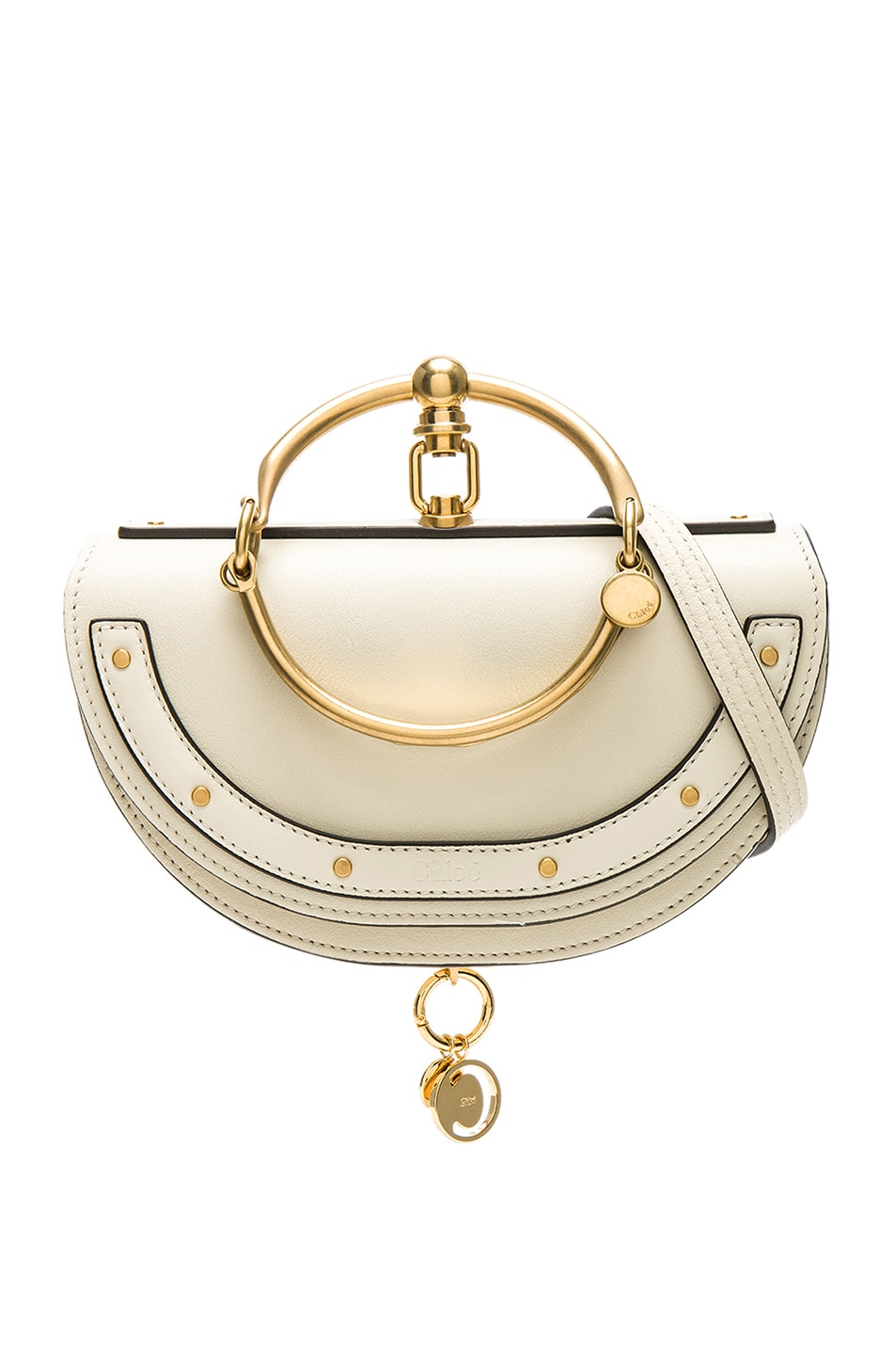Image 1 of Chloe Small Nile Leather Minaudiere in Off White