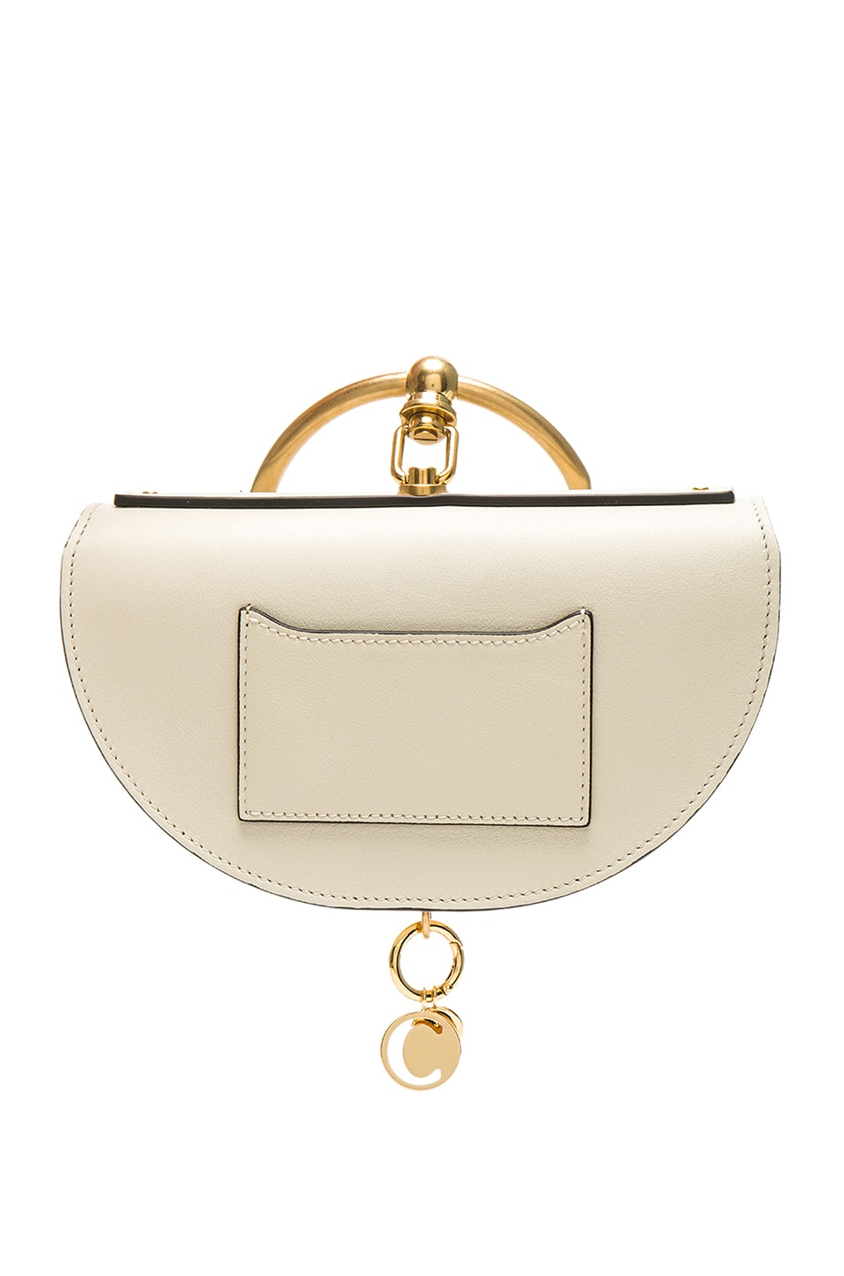 Image 3 of Chloe Small Nile Leather Minaudiere in Off White