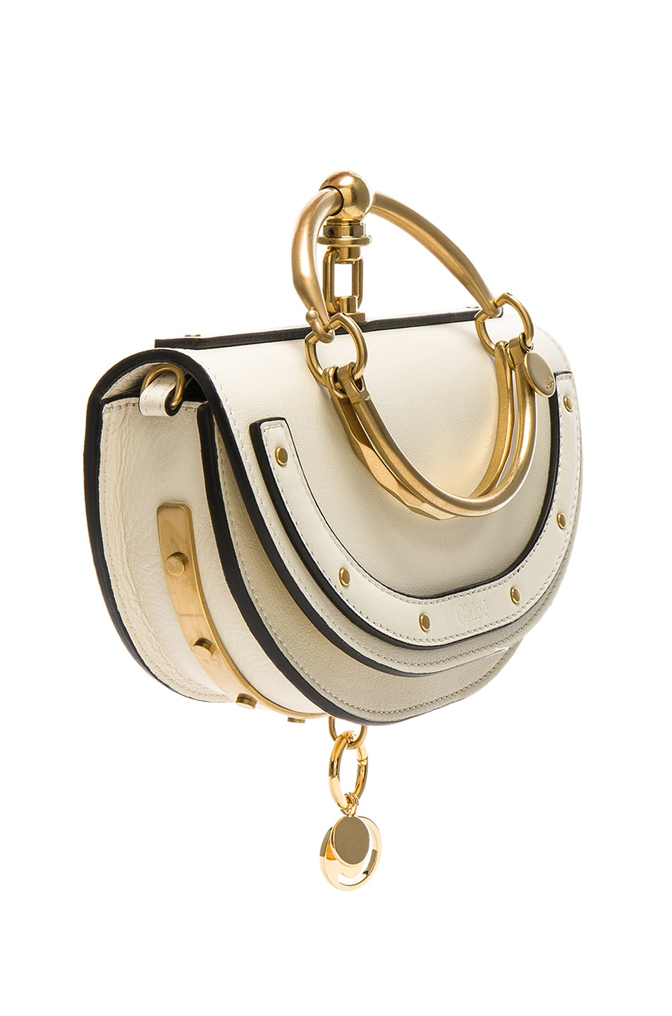 Image 4 of Chloe Small Nile Leather Minaudiere in Off White