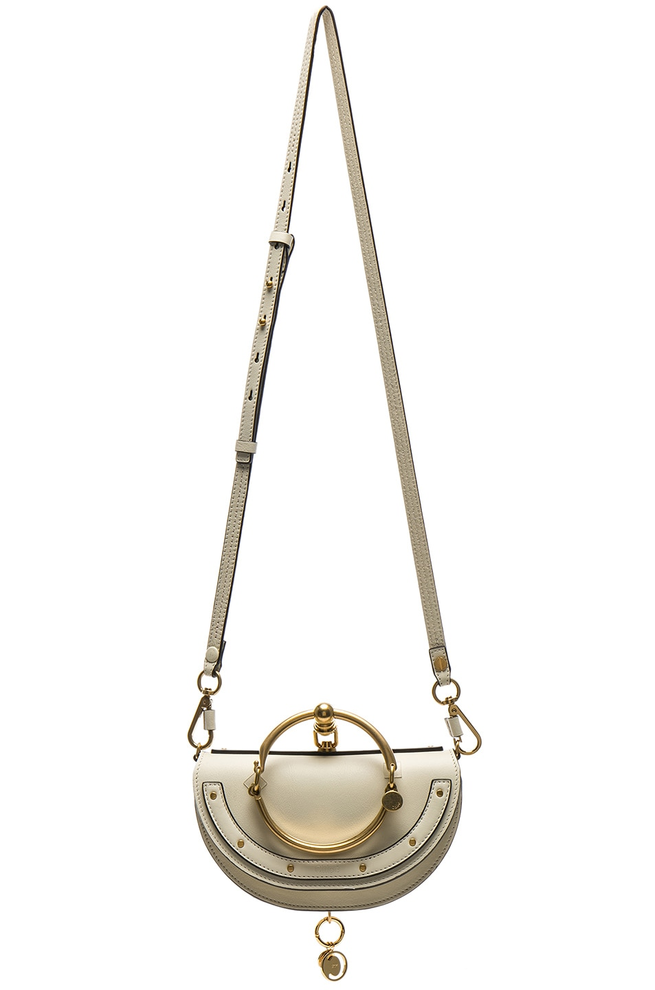 Image 6 of Chloe Small Nile Leather Minaudiere in Off White