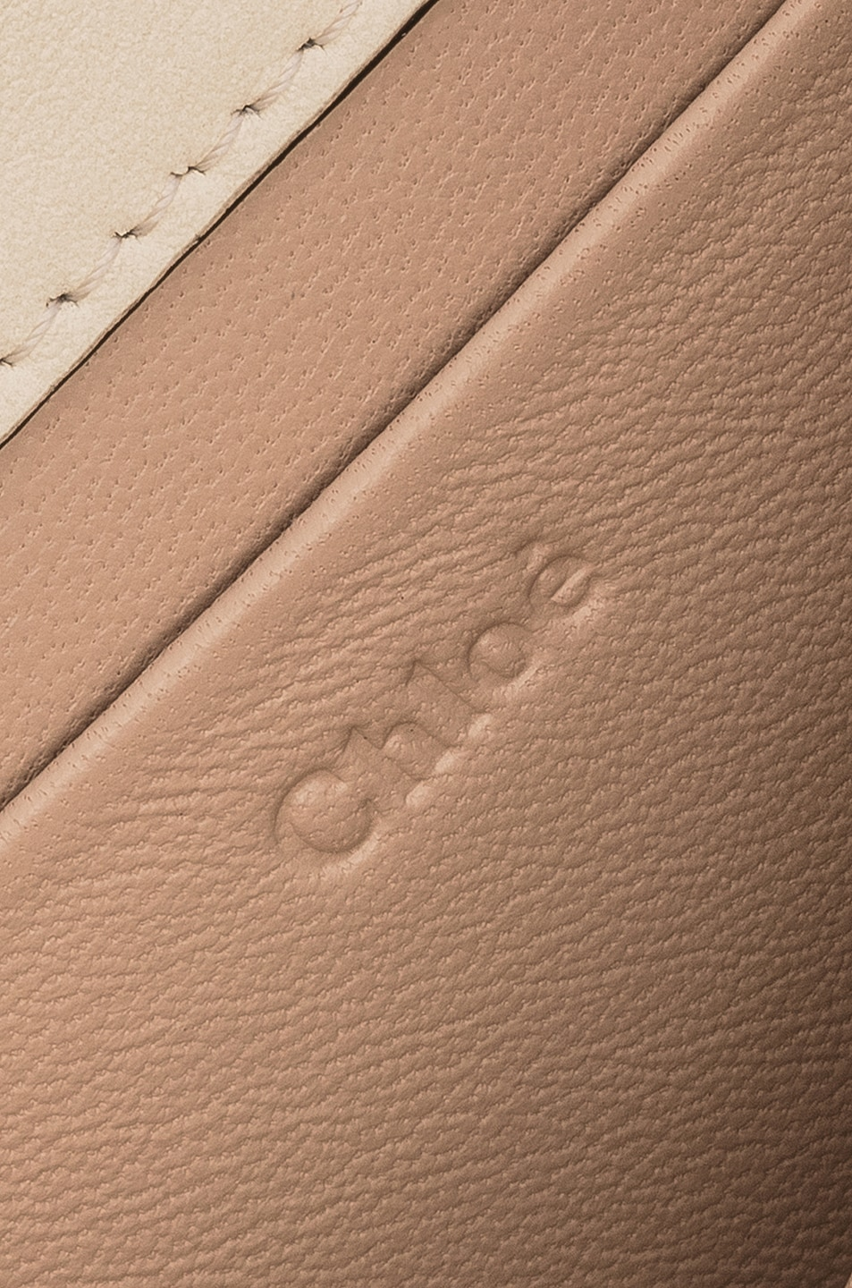 Image 7 of Chloe Small Nile Leather Minaudiere in Off White