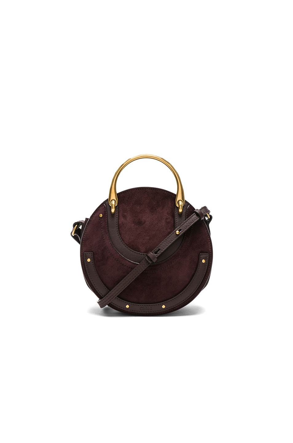 b4ee096689 Chloe Small Pixie Suede & Calfskin Double Handle Bag in Carbon ...