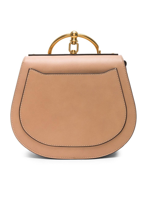 Image 3 of Chloe Medium Nile Calfskin & Suede Bracelet Bag in Biscotti Beige