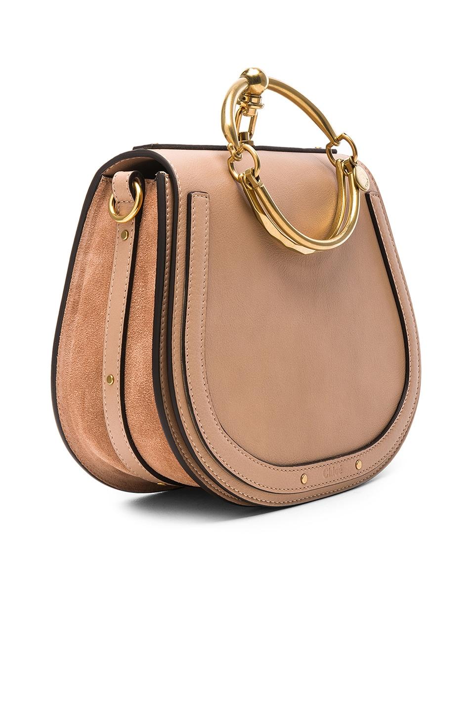 Image 4 of Chloe Medium Nile Calfskin & Suede Bracelet Bag in Biscotti Beige