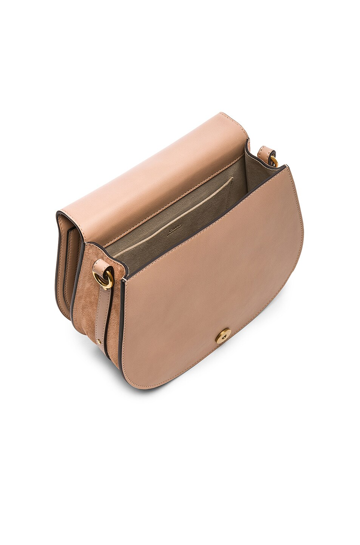 Image 5 of Chloe Medium Nile Calfskin & Suede Bracelet Bag in Biscotti Beige