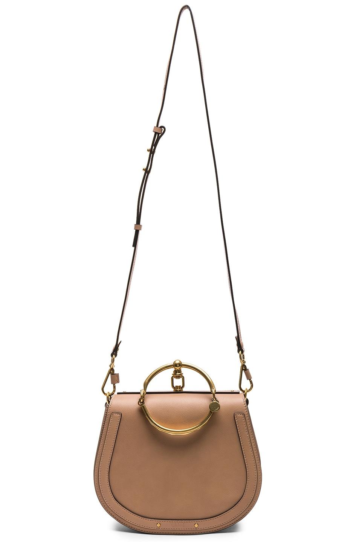 Image 6 of Chloe Medium Nile Calfskin & Suede Bracelet Bag in Biscotti Beige