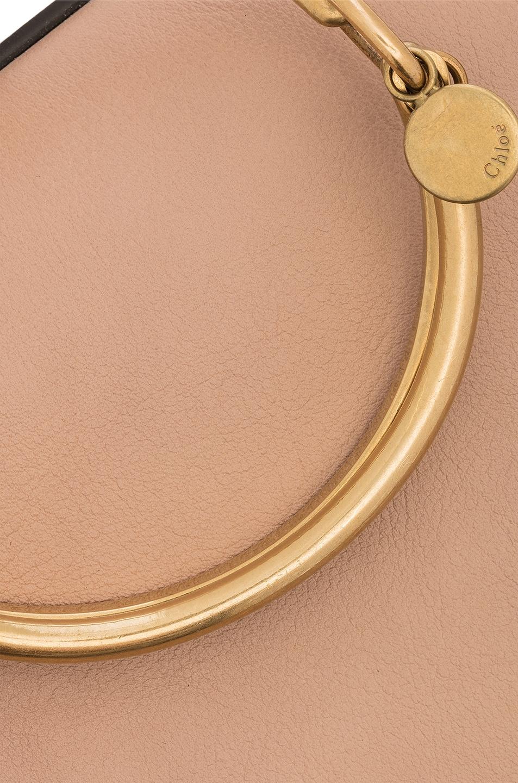 Image 8 of Chloe Medium Nile Calfskin & Suede Bracelet Bag in Biscotti Beige