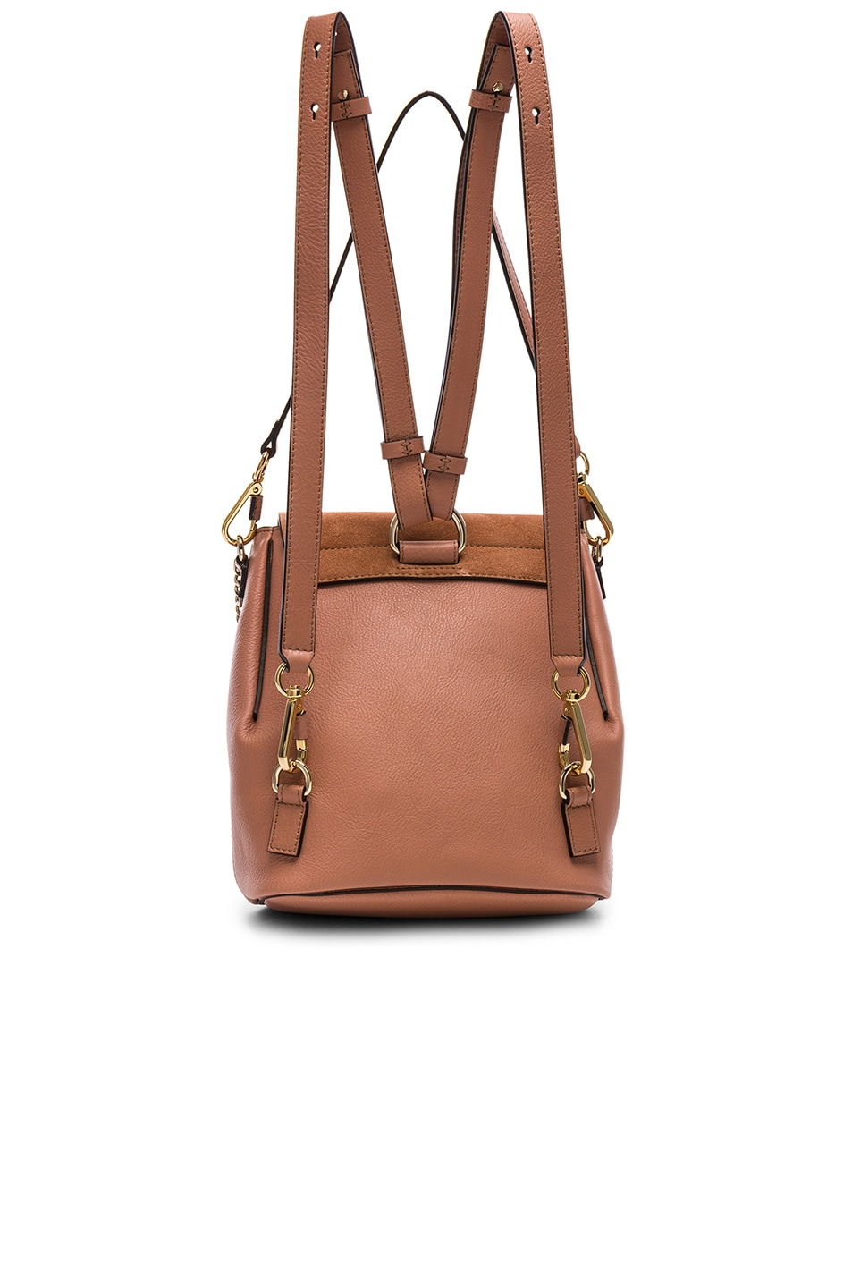 Image 2 of Chloe Small Faye Calfskin & Suede Backpack in Nougat