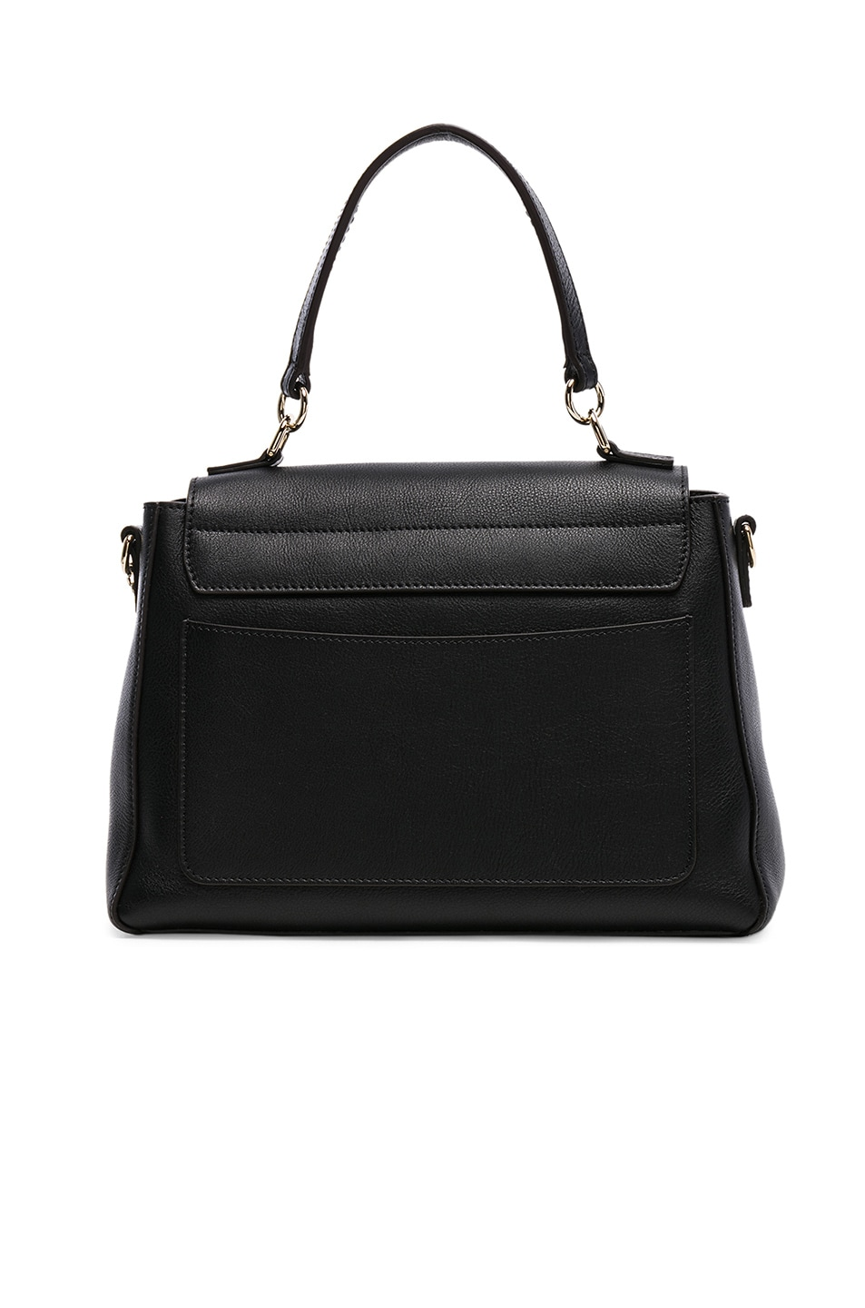 Image 3 of Chloe Small Faye Calfskin & Suede Day Bag in Black