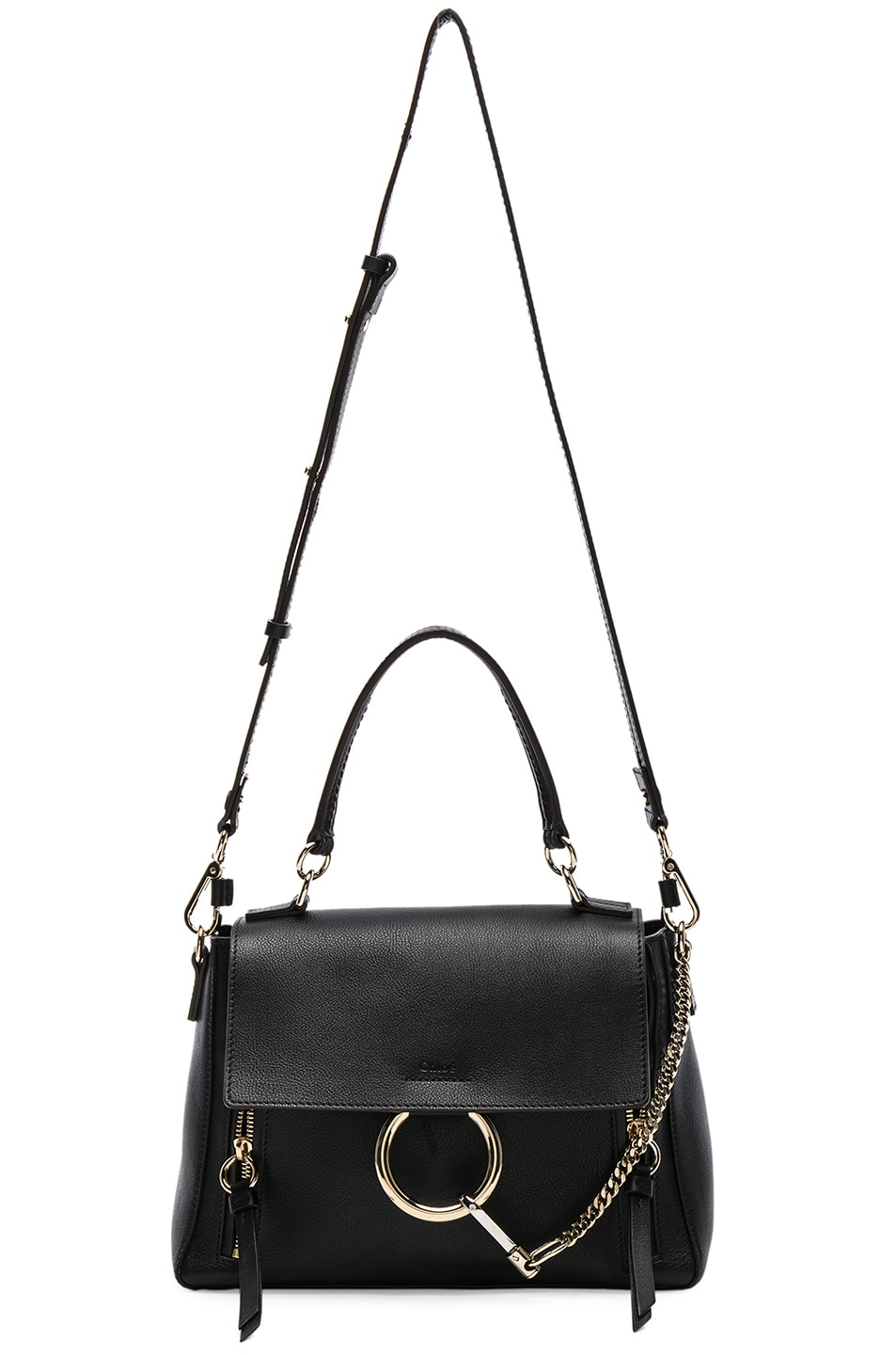 Image 6 of Chloe Small Faye Calfskin & Suede Day Bag in Black