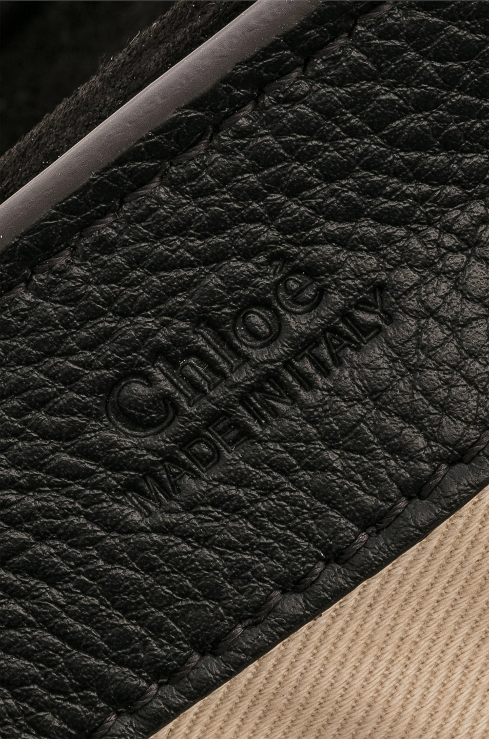 Image 7 of Chloe Small Faye Calfskin & Suede Day Bag in Black