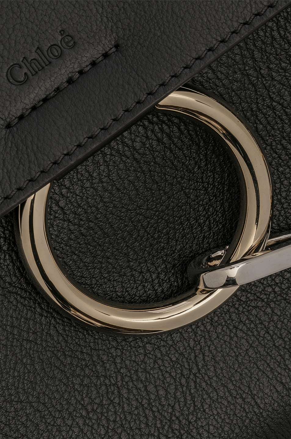 Image 8 of Chloe Small Faye Calfskin & Suede Day Bag in Black