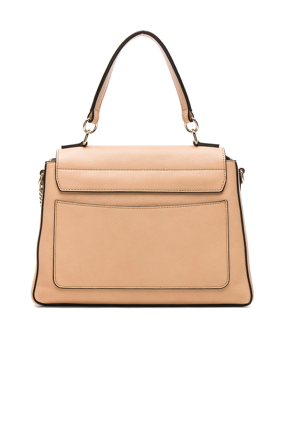 Image 3 of Chloe Small Faye Calfskin & Suede Day Bag in Blush Nude