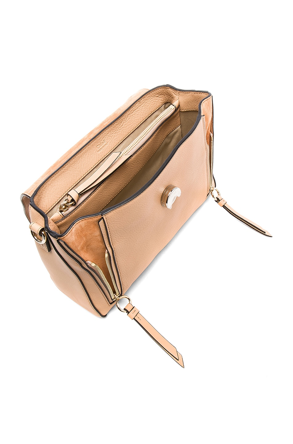 Image 5 of Chloe Small Faye Calfskin & Suede Day Bag in Blush Nude