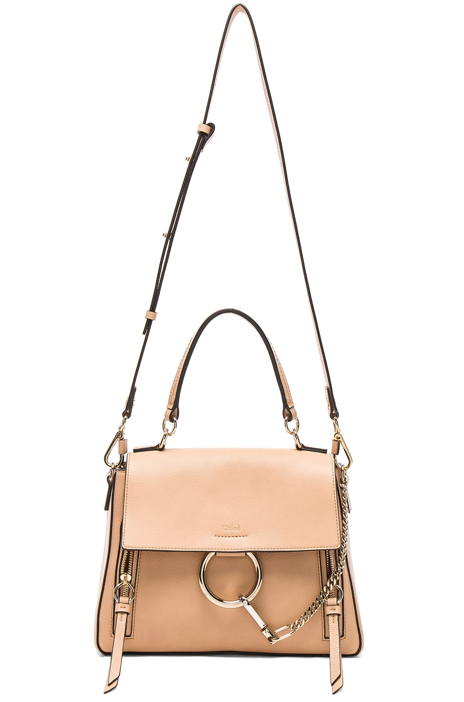 Image 6 of Chloe Small Faye Calfskin & Suede Day Bag in Blush Nude