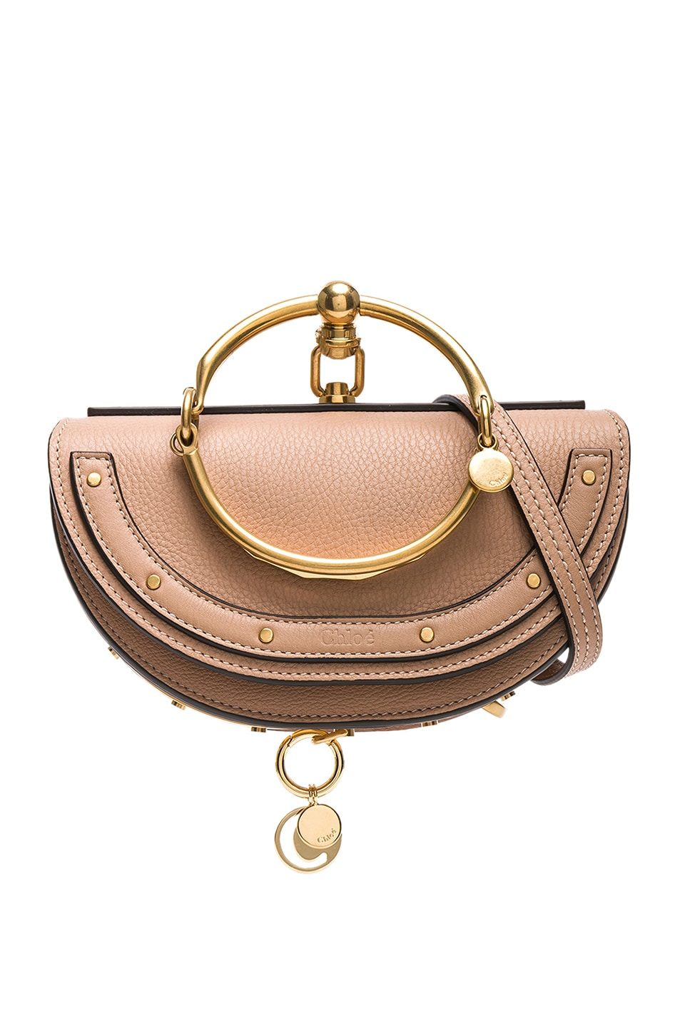 Image 1 of Chloe Small Nile Leather Minaudiere in Biscotti Beige