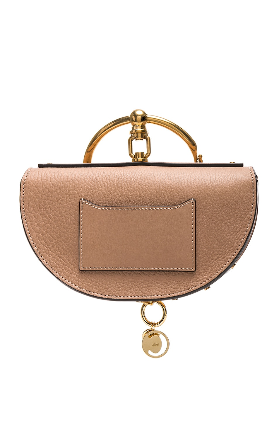 Image 3 of Chloe Small Nile Leather Minaudiere in Biscotti Beige