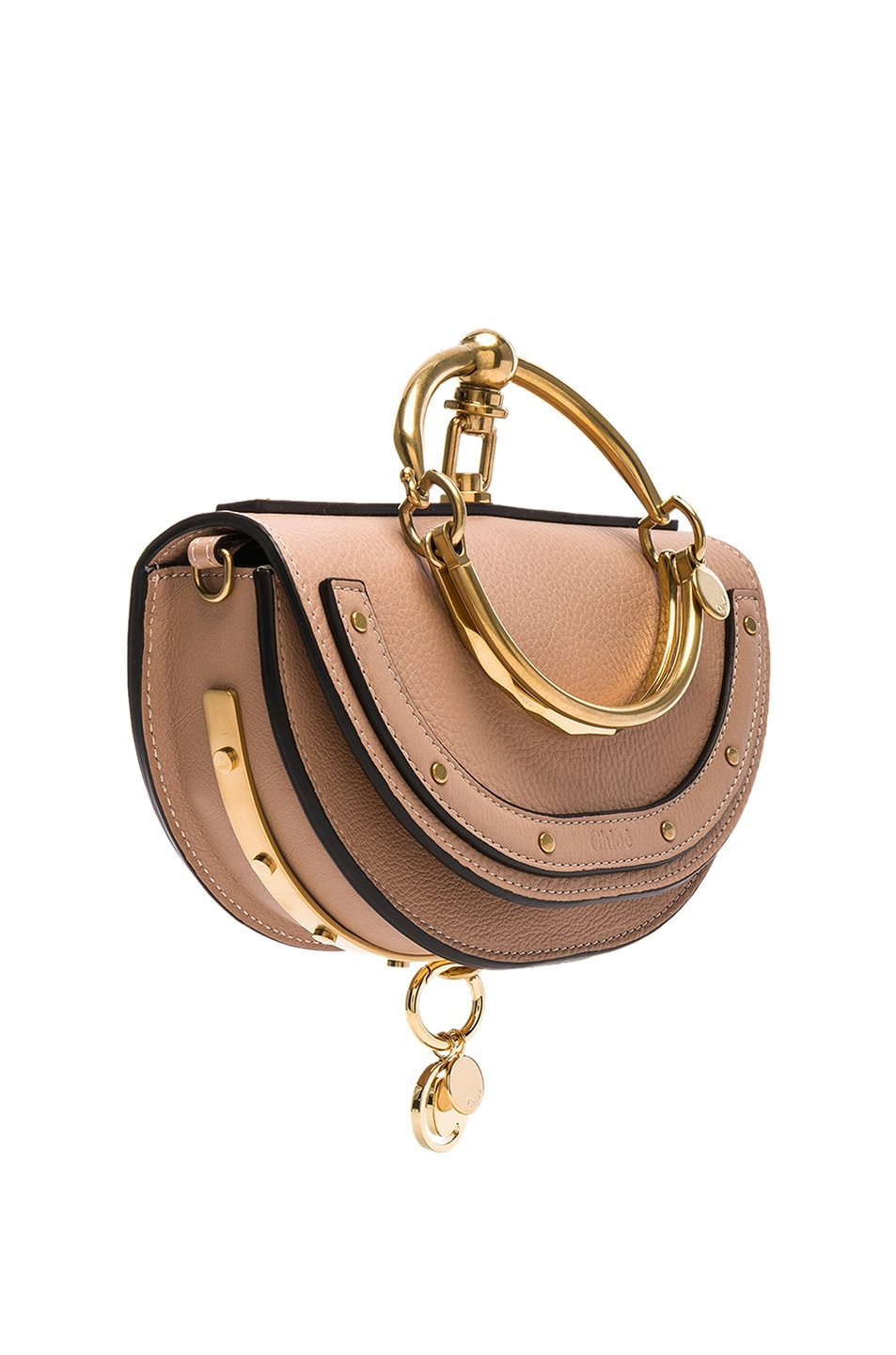 Image 4 of Chloe Small Nile Leather Minaudiere in Biscotti Beige