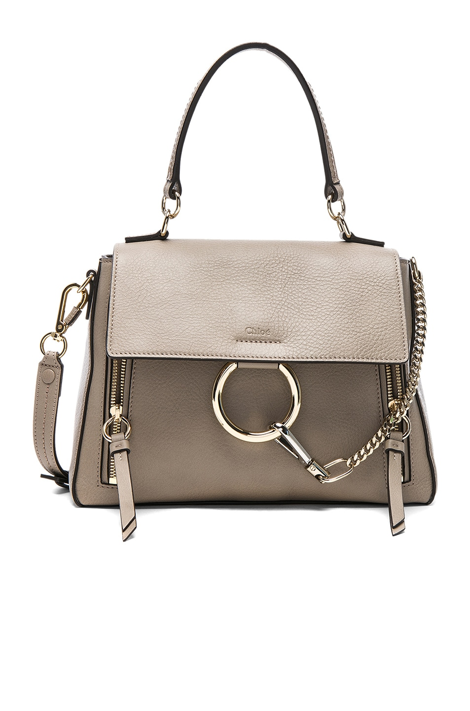 Image 1 of Chloe Small Faye Day Bag Calfskin & Suede in Motty Grey
